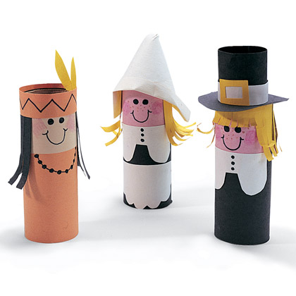 Craft Ideas Children on Great Looking Thanksgiving Day Toilet Paper Roll Dolls  This Craft